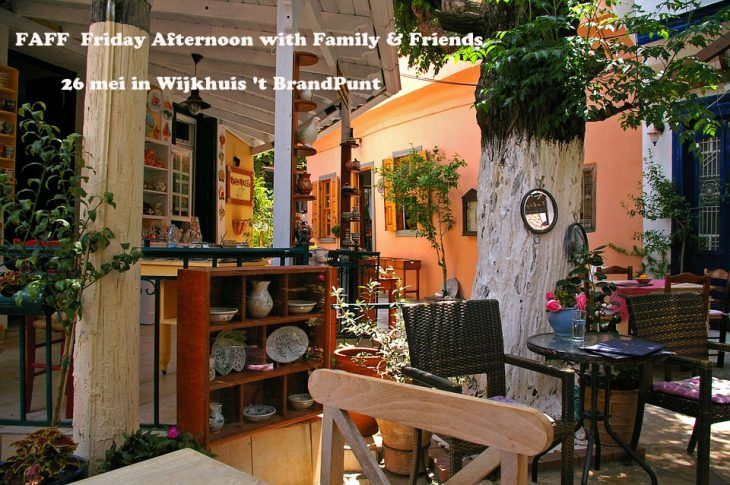 FAFF Friday Afternoon with Family & Friends 26 mei in Wijkhuis 't BrandPunt