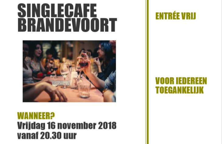 Single Café in 't BrandPunt 16 sept.