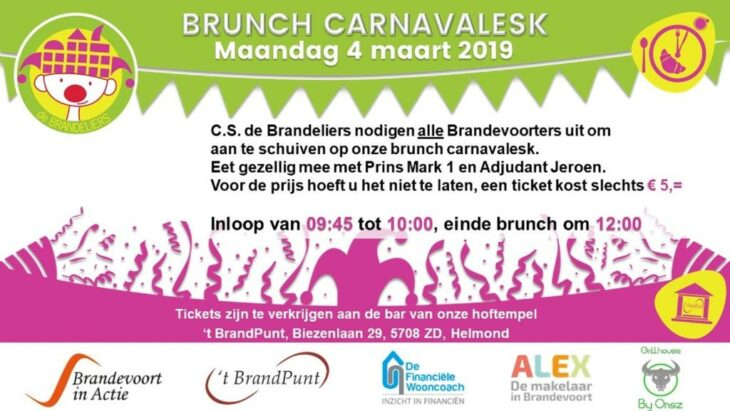 BRUNCH Carnavalesk in 't BrandPunt